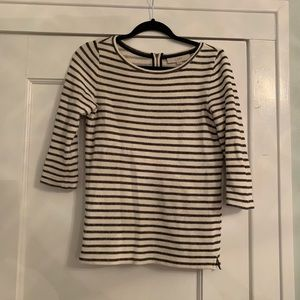 3/4 sleeve striped sweater